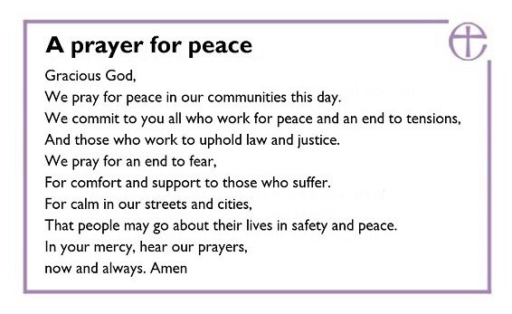 Southwark Prayer for Peace - London 3rd June 2017